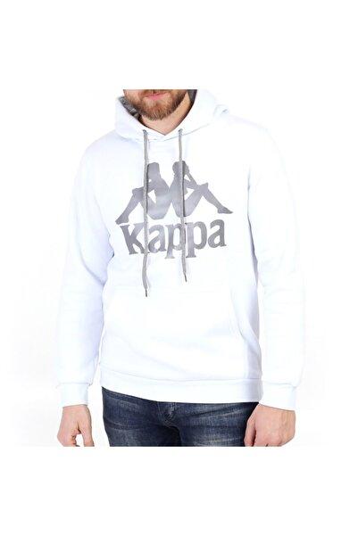 Kappa Erkek Beyaz Kapüşonlu Sweatshirt