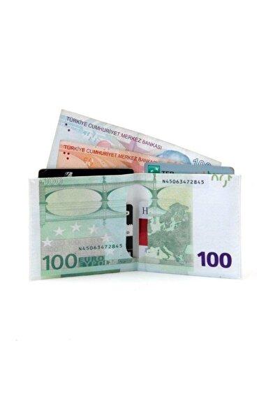 Çokuygunuz Dayanıklı Hafif Su Geçirmez 100 Euro Görünümlü Cüzdan