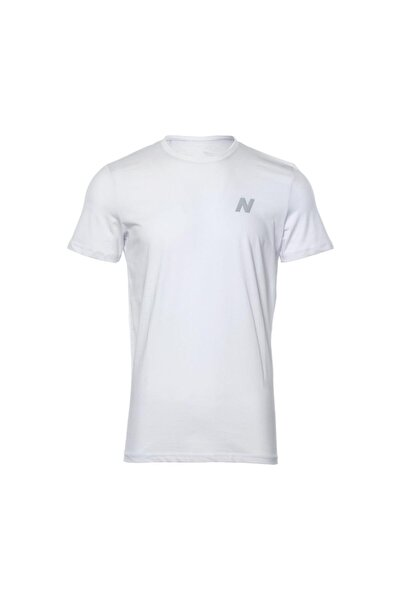 New Balance Erkek Beyaz T-shirt Mpt028-wt