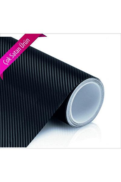 Avery Dennison Sticker Siyah Karbon Kaplama Folyo - Hava Kanallı Süper Ürün 25cm X 100cm 1 Adet