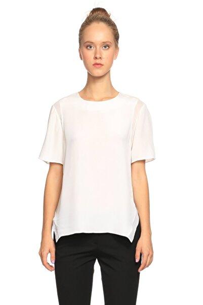 Prabal Gurung Kısa Kollu Beyaz Bluz