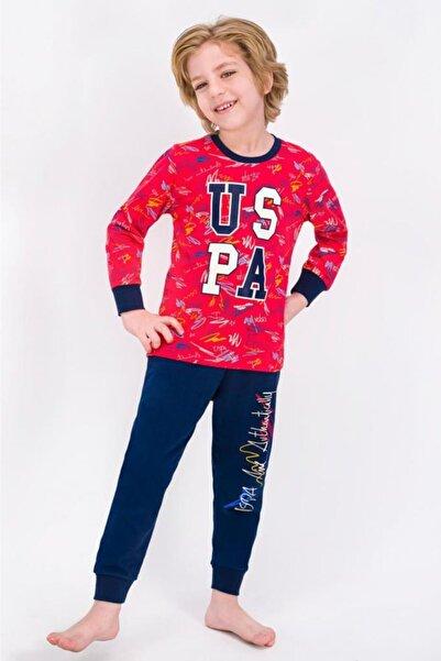 U.S. Polo Assn. Açık Kırmızı Lisanslı Erkek Çocuk Pijama Takımı