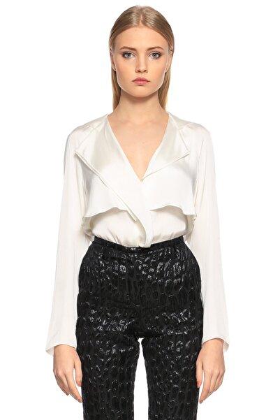 Lanvin V Yaka Beyaz Bluz