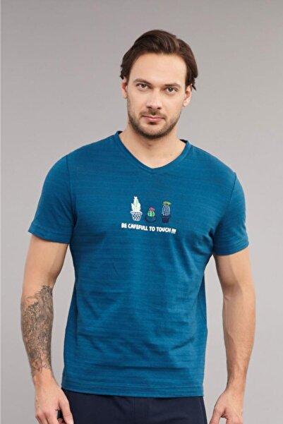 bilcee 4006 Erkek Örme Tshirt Tb18mb07s4006-1