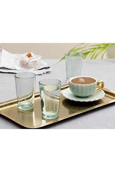English Home Yeşil Palm Cam 6'lı Kahve Yanı Su Bardağı 100 ml