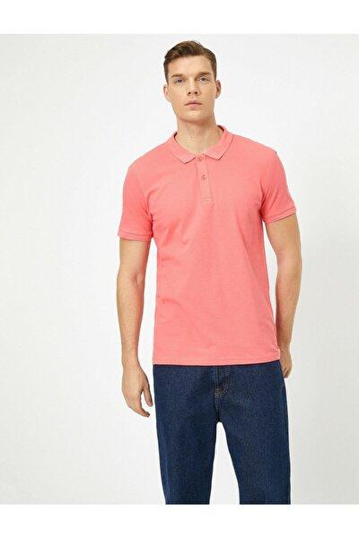 Koton Erkek Patlican Moru Polo Yaka T-Shirt