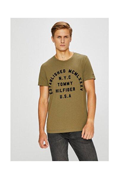 Tommy Hilfiger Established Erkek Baskılı Tshirt