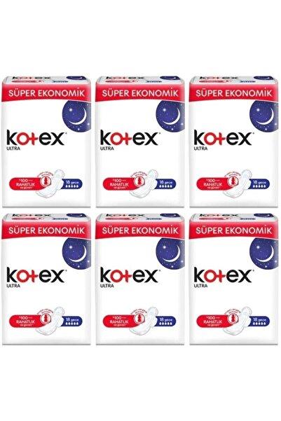 Kotex Ultra Quadro 18 Li Gece 6 Lı Set