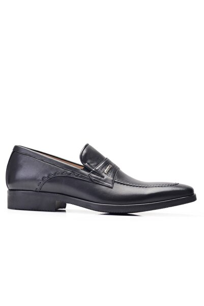 Nevzat Onay Hakiki Deri Siyah Klasik Loafer Erkek Ayakkabı -11863-