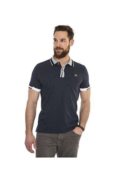 Camp David Erkek Lacivert Polo Yaka T-shirt