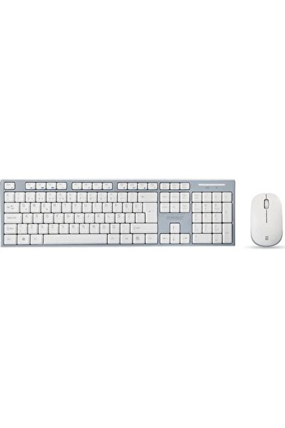 Everest Beyaz / Gri Kablosuz Multimedia Klavye + Mouse Set Km-6063