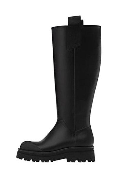 Kadın Siyah  Düz Kauçuk Çizme 19354770