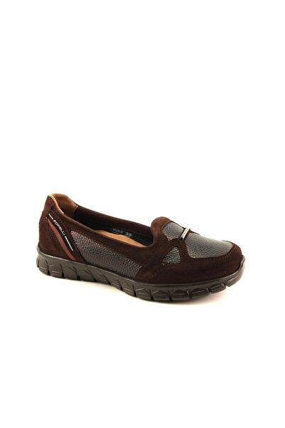 Forelli Kadın Kahverengi Hakiki Deri Comfort Ayakkabı 61043