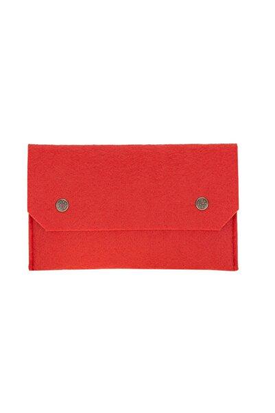 PLM Kadın Kırmızı Çok Amaçlı Keçe Medikal Maske Çantası