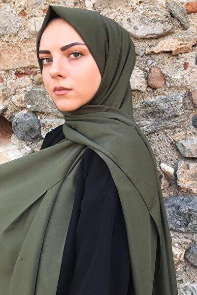 Stella Kadın Haki Medine İpeği Şal
