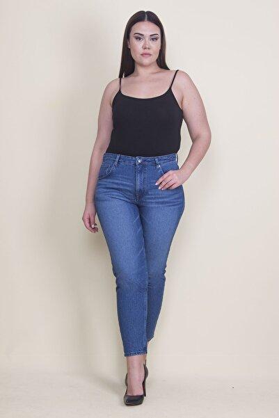 Şans Kadın Mavi 5 Cepli Skinny Kot Pantolon 65N22035