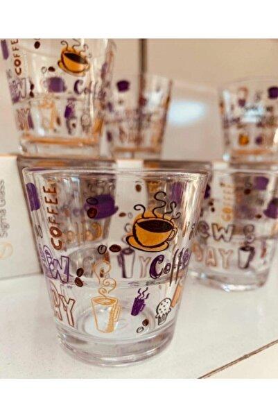 SIGMA GLASS Mor Grande Kahve Yanı Bardak 6 Lı 5.8 cm 72 cc