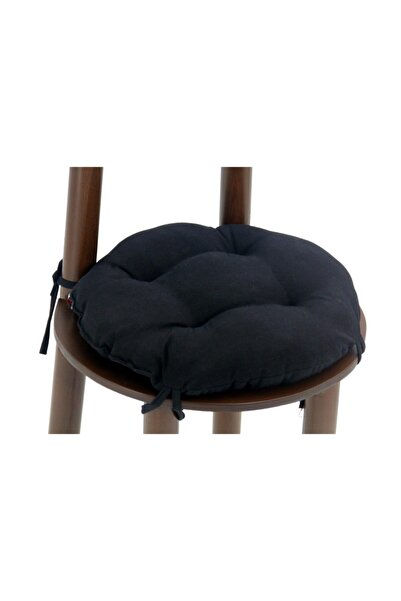 İŞBİR Yuvarlak Sandalye Minderi 40x40 Cm Siyah