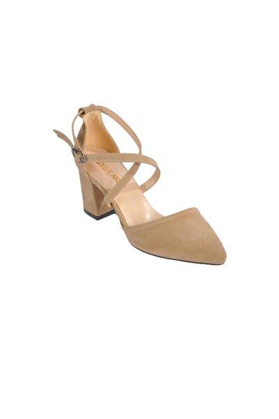 Maje 1901 Ten Süet Kadın Topuklu Ayakkabı
