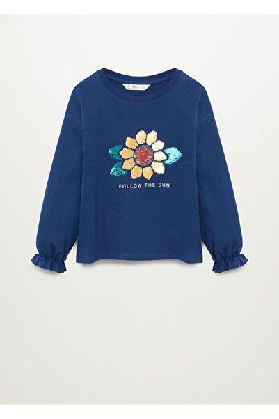 MANGO Kids Pullu Uzun Kollu Tişört