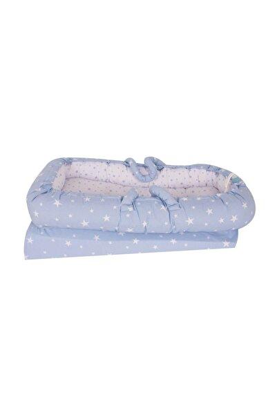 Sevi Bebe Anne & Baba Yanı Reflü Yatağı Mavi /