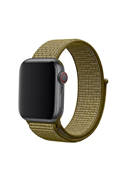zore Apple Watch 38mm Krd-03 Hasır Kordon 30-olive Flak