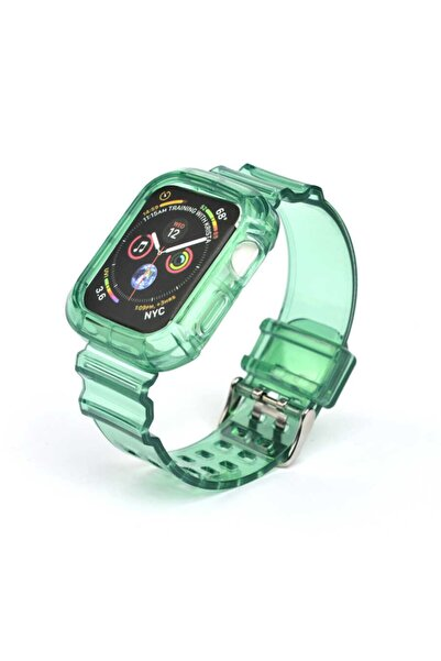 zore Apple Watch 40mm Krd-27 Silikon Kordon Yeşil