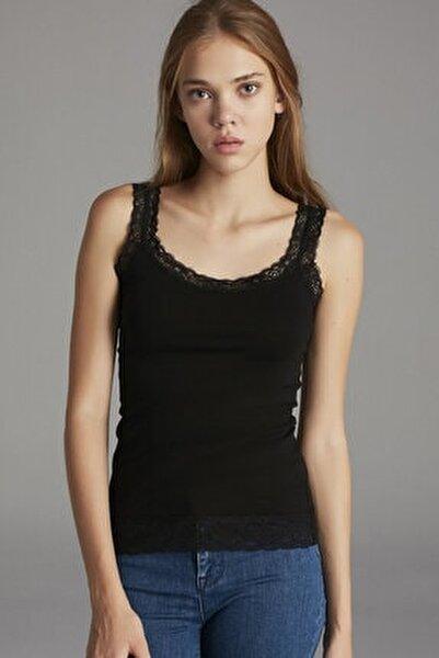Siyah Basic Lace Atlet