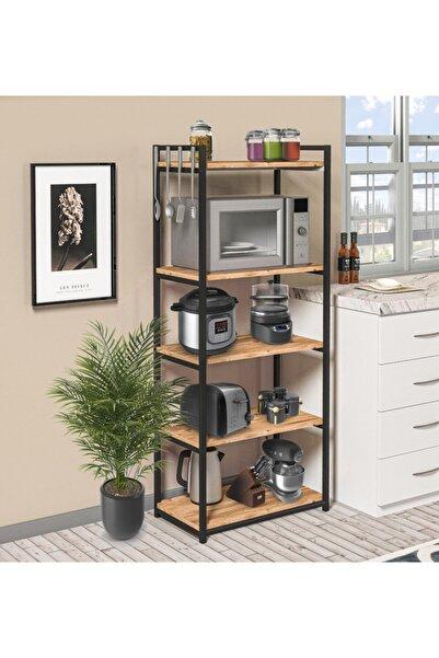 Cosargroup Mikrodalga Fırın Dolabı 5 Raflı Metal Mutfak Düzenleyici