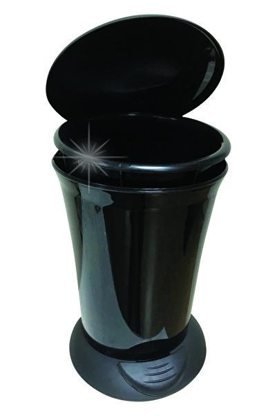 Adesign 6 Lt. Renkli Pedallı Çöp Kovası Siyah