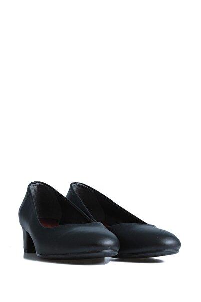 PUNTO adın Siyah Günlük Topuklu Ayakkabı