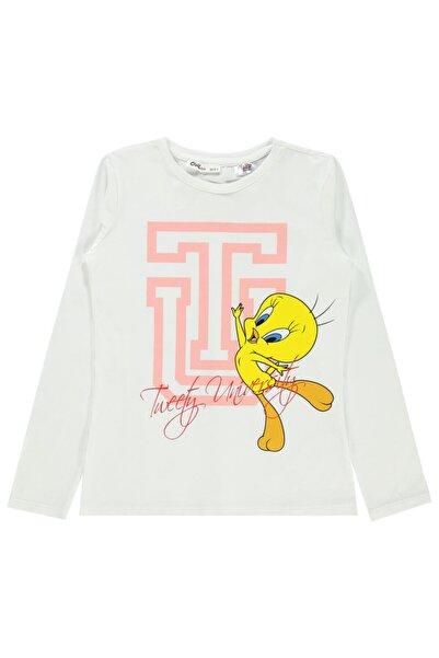 TWEETY Kız Çocuk Sweatshirt 10-13 Yaş Ekru
