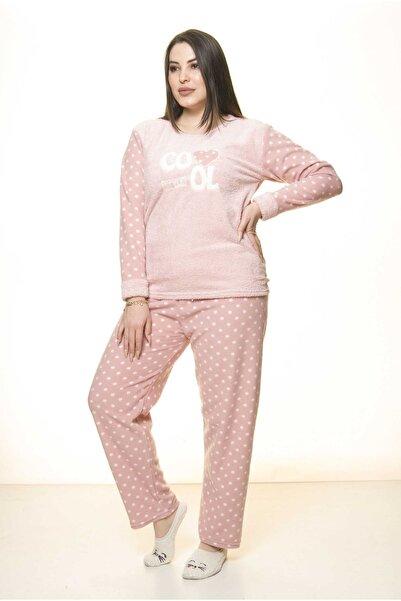 Moday Kadın Polar Peluş Kışlık Pijama Takımı 32c-1512