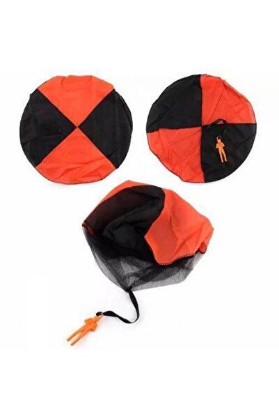 ESRA ŞELEM Turuncu Siyah İki Renk El Atma Çocuk Mini Paraşüt Oyuncak