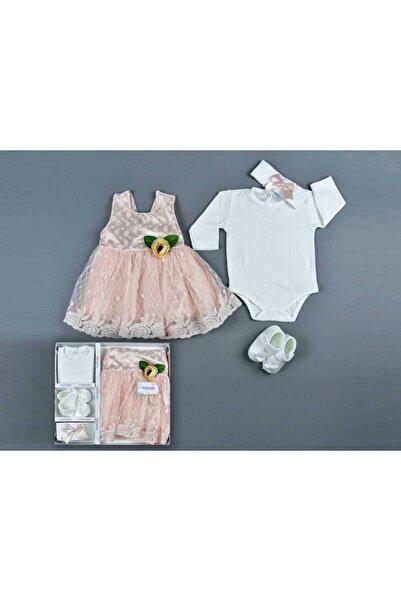 Mia Bella Kız Bebek Pembe Dantelli Elbise
