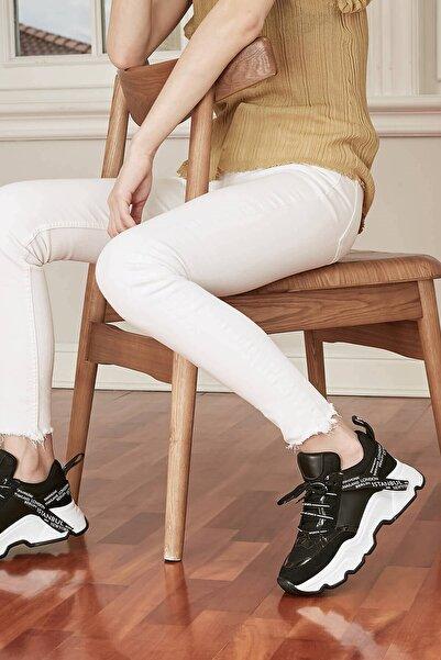Mio Gusto Kadın Siyah Sneaker