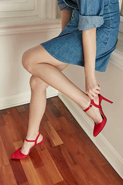 Mio Gusto Lucia Kırmızı Bilek Bantlı Topuklu Ayakkabı