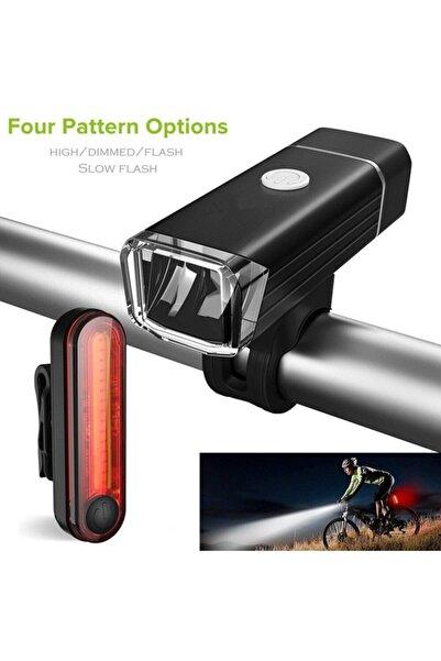 Cbtx Usb Led Şarj Edilebilir Bisiklet Işık Seti Ön Arka Far
