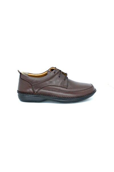 PUNTO 632776 Erkek Topuk Dikenı Takviyeli Anatomic Hakiki Deri Ayakkabı