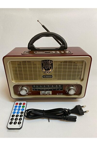Meir Nostalji Radyo Bluetoothlu Kumandalı Usb Tfcard