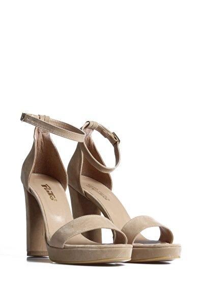 PUNTO Kadın Ten Günlük Topuklu Ayakkabı