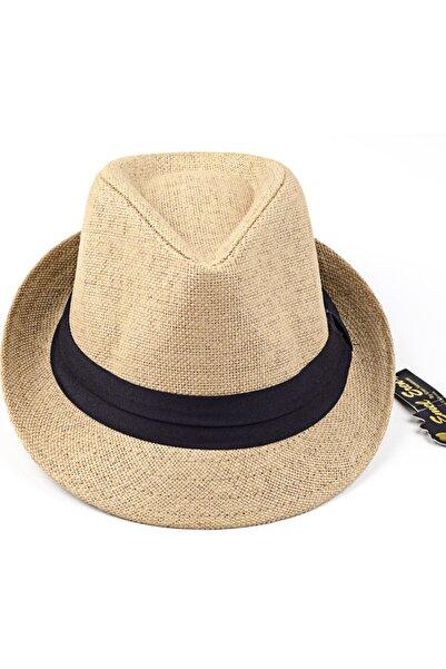 LadyColor Hasır Fötr Şapka Camel