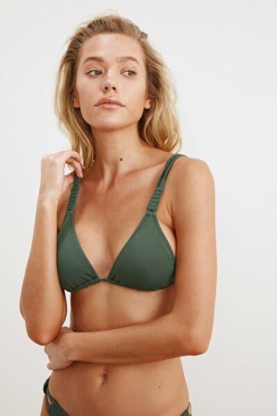 TRENDYOLMİLLA Yeşil Askı Detaylı Bikini Üstü TBESS21BU0194