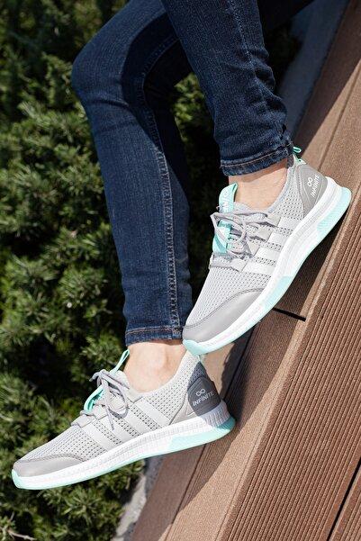 MUGGO Unisex Gri Sneaker Ayakkabı Mgforce01