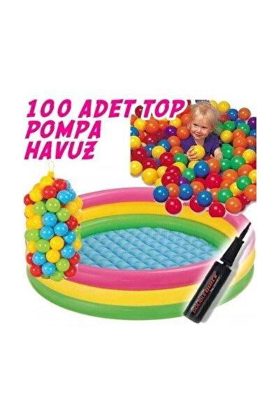 Intex İntex Oyun Havuzu Şişme Taban 100Toplu+Pompa