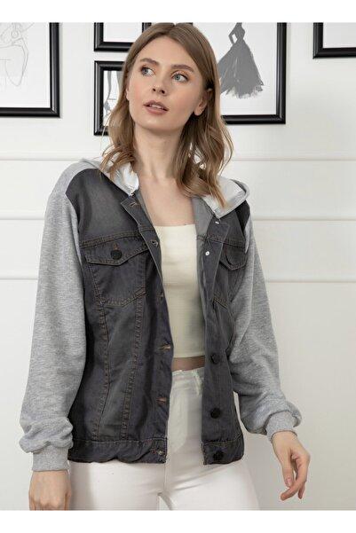 My Boutique Kadın Füme Kot Ceket