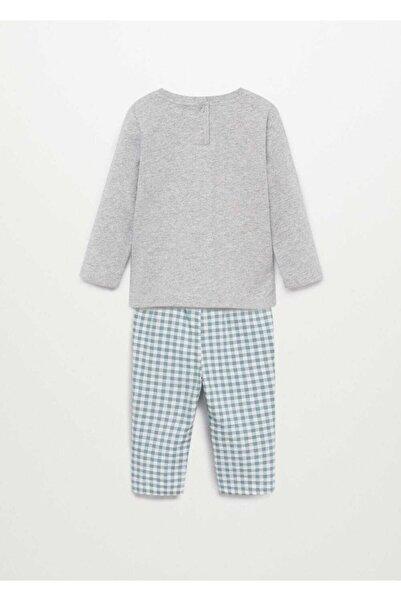 MANGO Baby Pötikareli Pijama Takımı