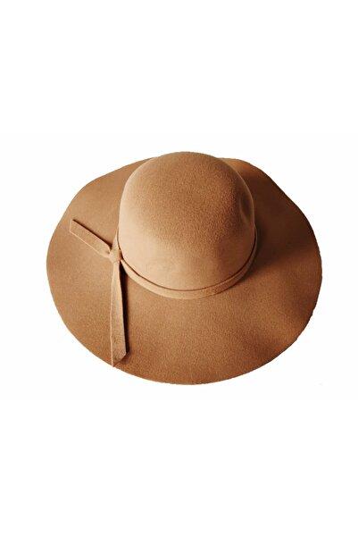 EUROMODA Açık Kahverengi Bayan Keçe Fötr Şapka