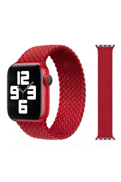 Ekoodukkan Apple Watch 44mm Kordon Örgü Solo Loop Kordon Kayış - M Beden