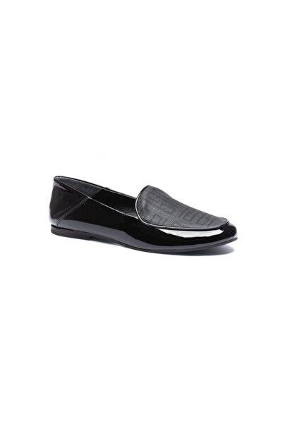 Silver Polo Kadın Siyah Hakiki Deri Klasik Ayakkabı 8892-02v2
